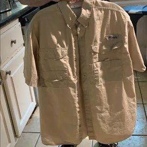 Columbia PFG vented button up short sleeve shirt